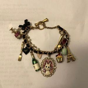 Betsey Johnson Paris Cat Charm Bracelet